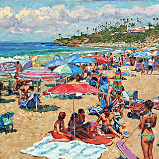 Laguna Beach Oil Painting by Eugene Kaspin