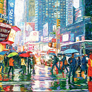 Manhattan Crosswalk Original Oil Painting