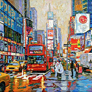 Times Square Oil Painting by Eugene Kaspin