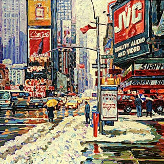 Snow, Rain Oil Painting by Eugene Kaspin