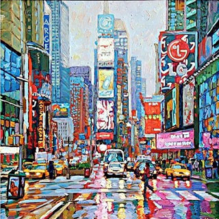 New York Times Square Oil Painting