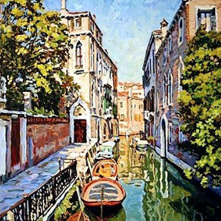 Original Oil Painting Venice Italy